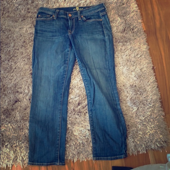 7 For All Mankind Denim - 7 for all mankind Jeans/ The Skinny Crop &Roll